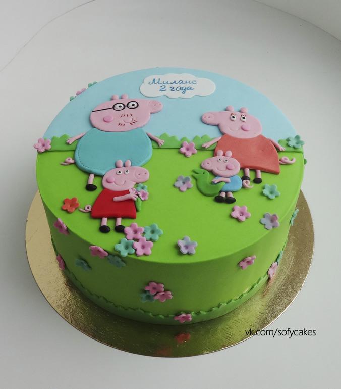Торт свинка пеппа мк