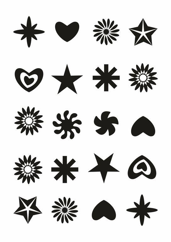 Чёрно-белые картинки для распечатки для детей.