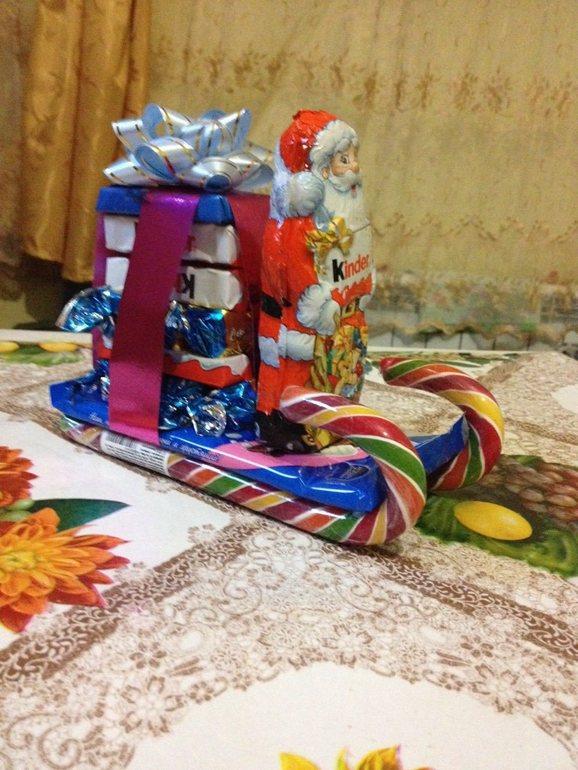 Новогодние сладкие подарки сани 65