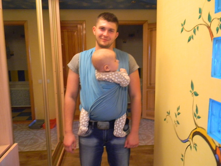 Наконец-то муж в слинге :)