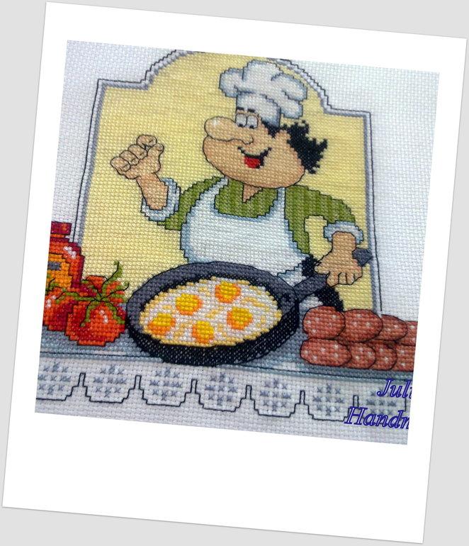Вышивка веселого повара