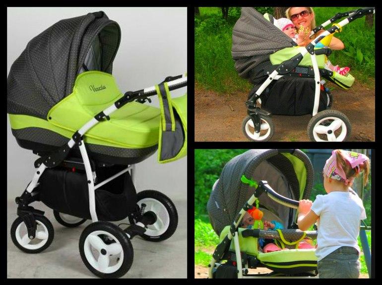 Детская  коляска  Aneco  Venezia  2  в  1  за  10000тр  +подарок  муфта