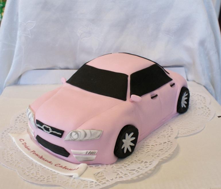 Торт Розовая машина