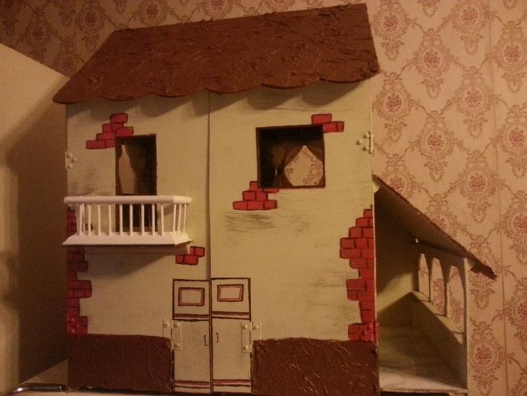 Крыша для кукольного домика своими руками 39