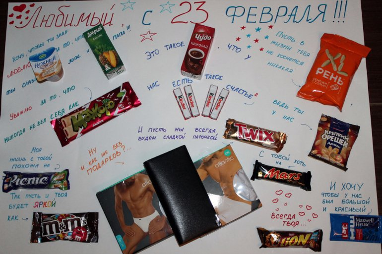 Плакаты с поздравлениями со сладостями 993