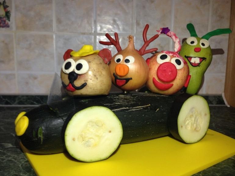 Поделки своими руками из овощей и фруктов с фото инструкцией