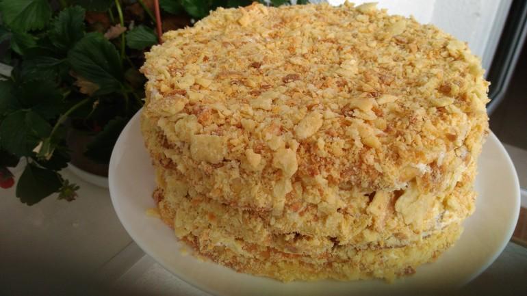 Торт наполеон на маргарине пошаговый рецепт
