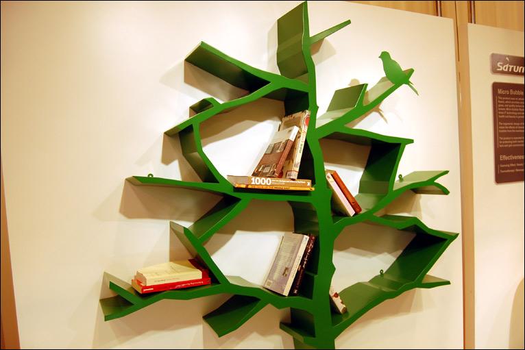 Книжная полка дерево своими руками