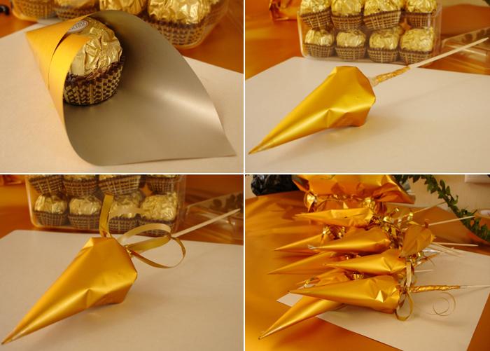 Как своими руками сделать букет из конфет пошаговое фото