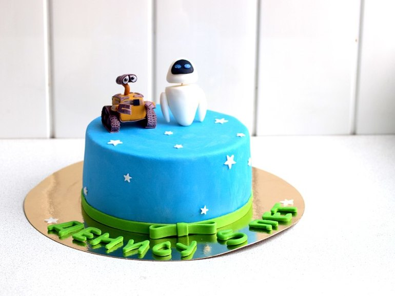 Торт с роботом мастер класс