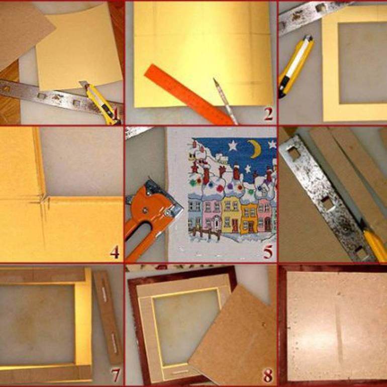 Как самой сделать рамку для своих картин