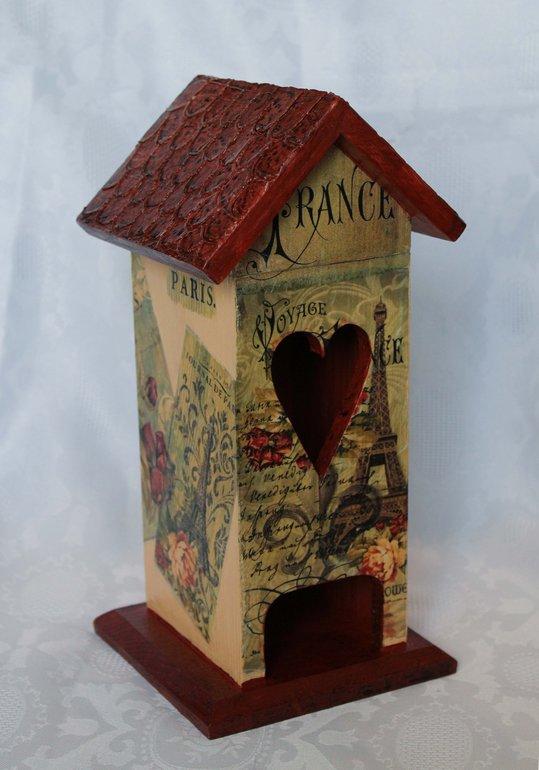 Французская  тема...домик  для  чайных  пакетиков...