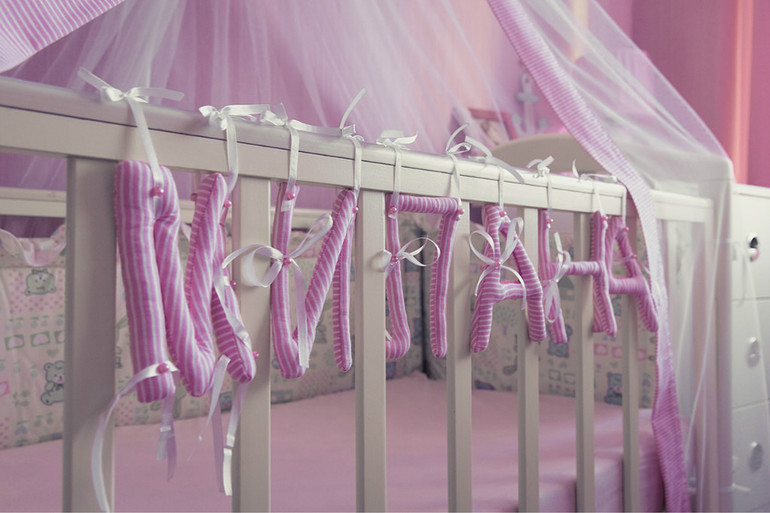 Буквы на кроватку из ткани