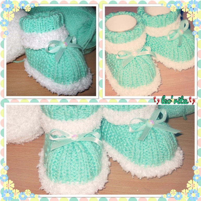 Вязанье для малышей пинетки 651