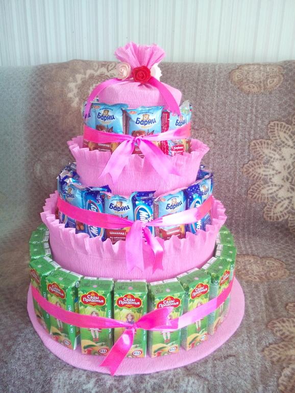 Тортики для детского сада из сока и конфет своими руками фото 85