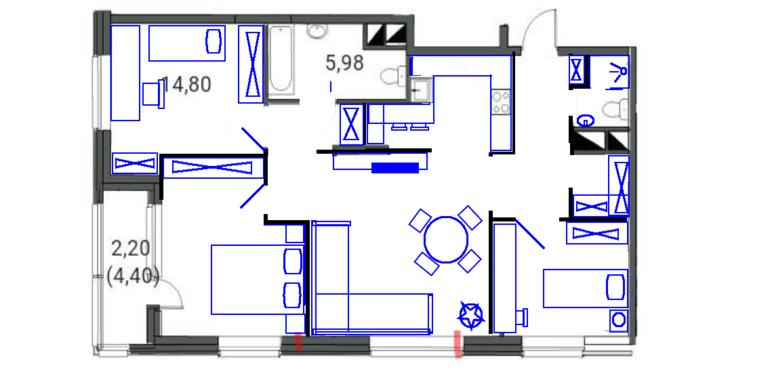 Как сделать из трехкомнатной квартиры две однокомнатных