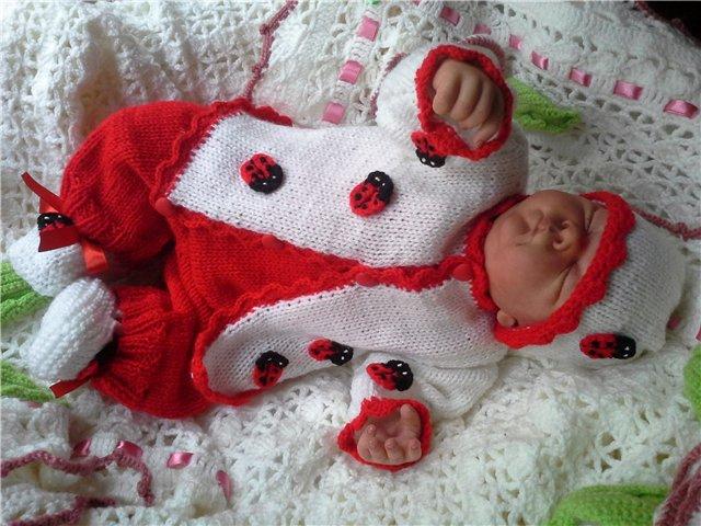 Мастер-класс вязание костюмчика для новорожденного 45