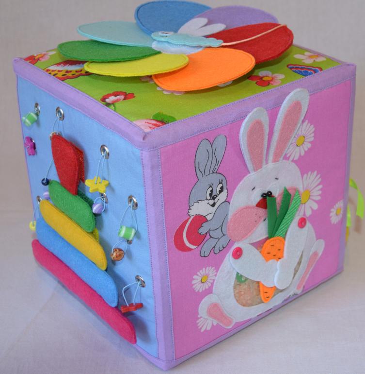 Развивающийся кубик для детей своими руками 11