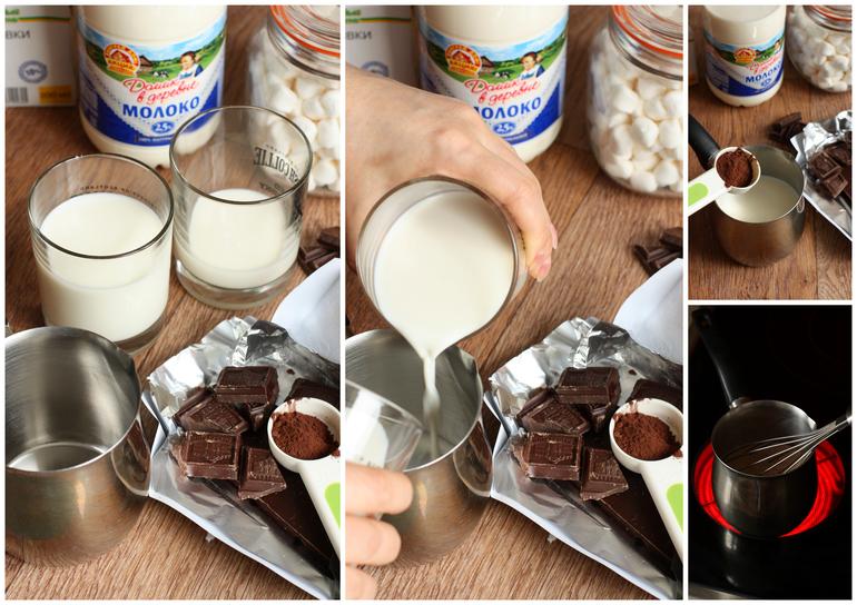 Как сделать горячее молоко