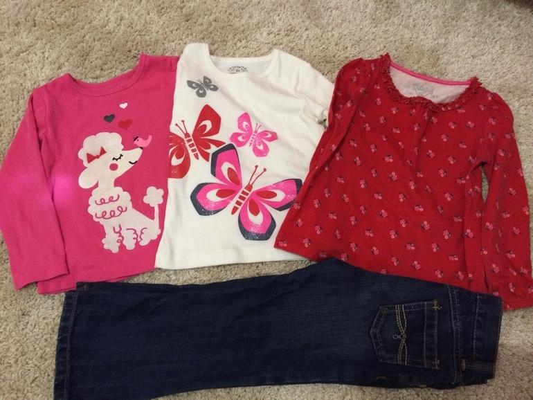 Девочке  на  3  года-  джинсы,  лонгсливы