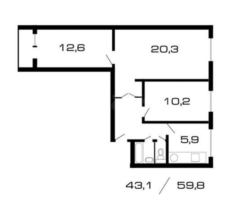 3 к квартира, ул. Яхромская, м. петровско-разумовская - запи.