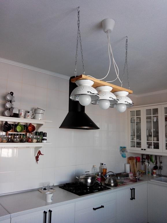 Как сделать люстру на кухню своими 441