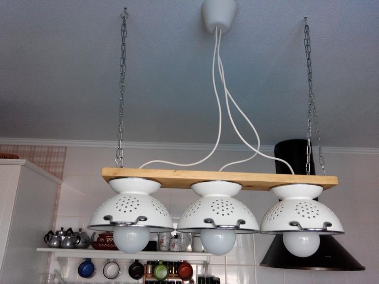 Фото люстра для кухни своими руками 100