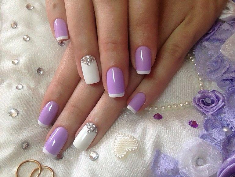 Дизайн ногтей цветные френчи