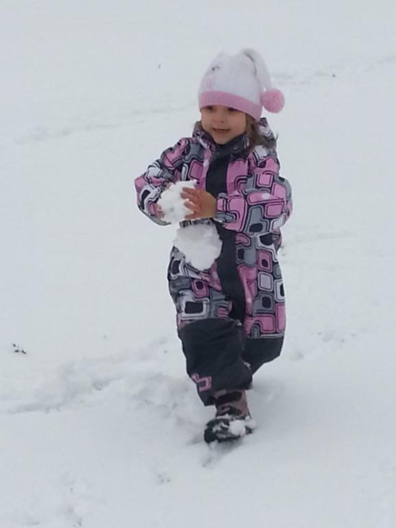 Снег  в   Балашихе ....
