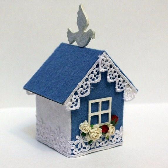 Новогодний домик из картона своими руками мастер класс