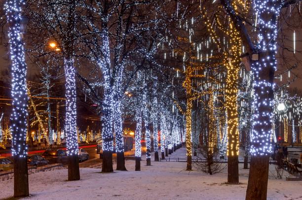 Новогоднее оформление входа в Измайловский парк признали лучшим в Москве