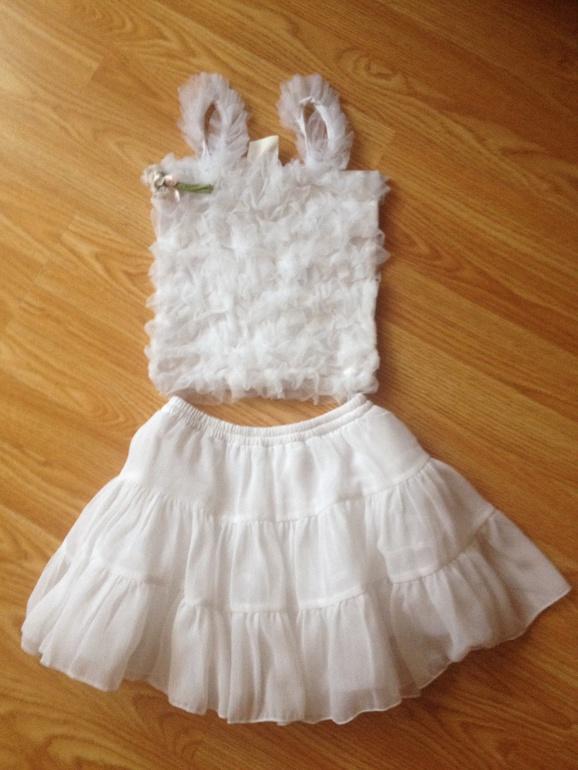 Комплект  юбка+топ  на  рост  от  98  см  до  110  цена