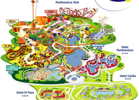 Парк порт авентура испания схема
