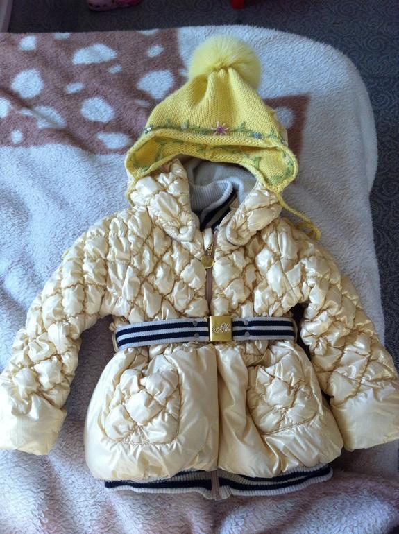 Куртка монализа 90см+ шапка regina