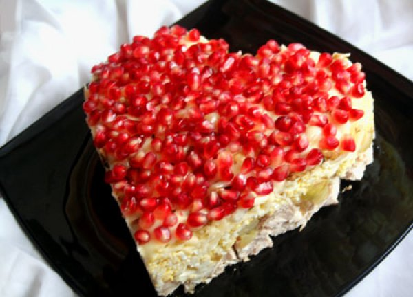 На день святого валентина салат сердце рецепт