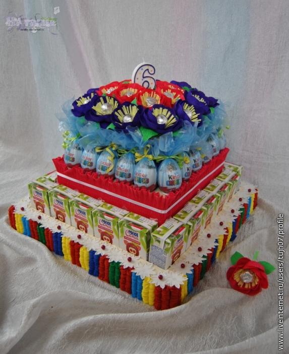 Торт из сладостей и сока пошаговое для начинающих