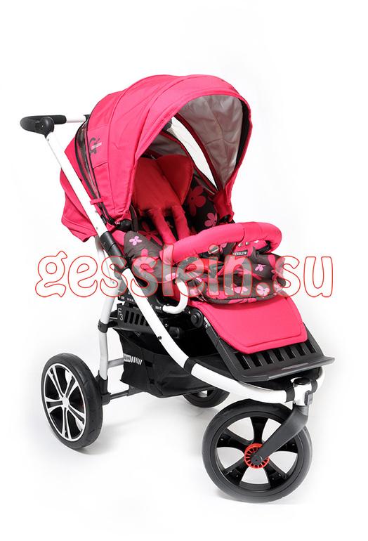 Gesslein F3 ярко-розовая прогулочная коляска Б/У