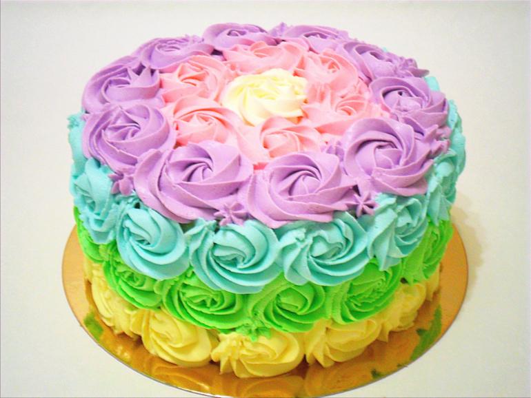 Как украсить торт для девочки на день рождения своими руками из крема 74