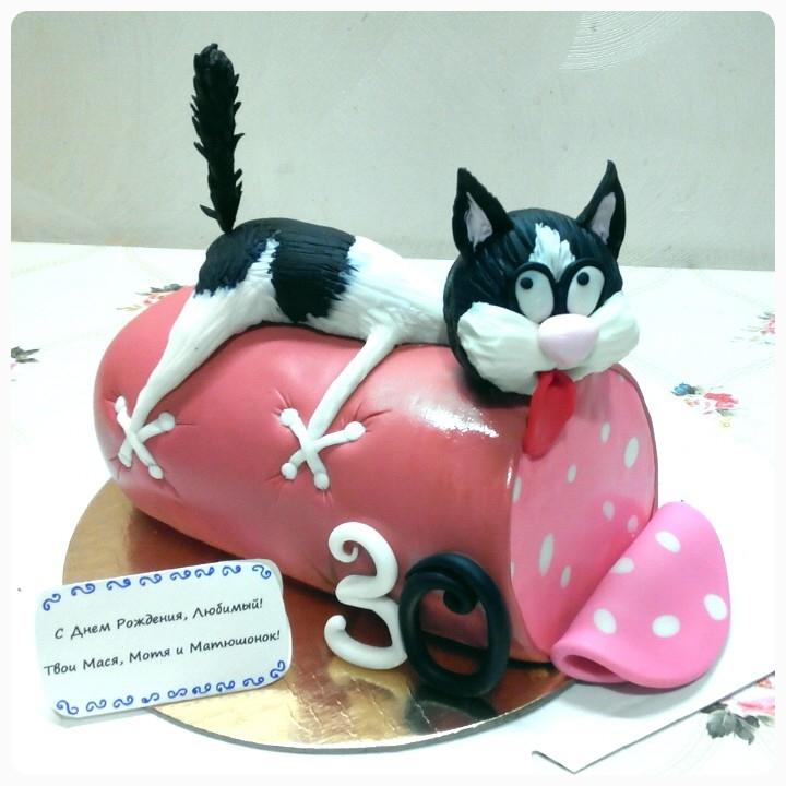 специально разработанного торт кот с колбасой достигается