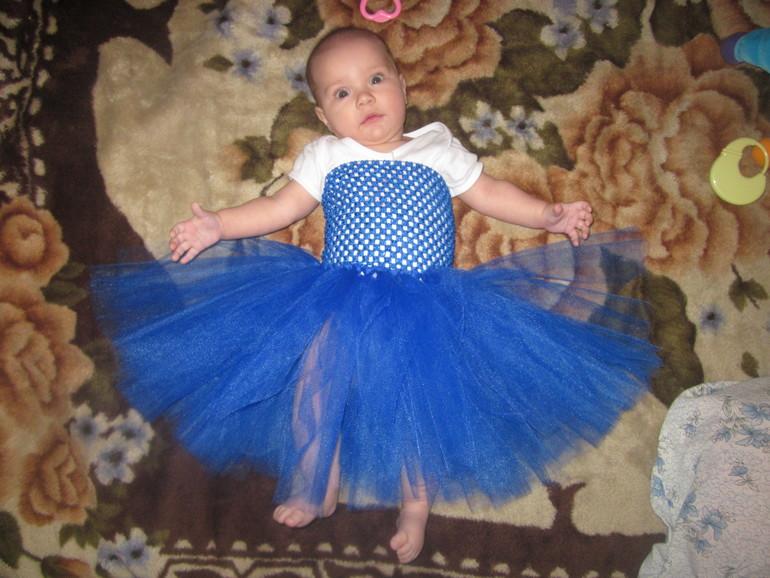 Платье детям из фатина своими руками мастер класс