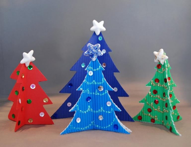 Поделки к новому году 2015 своими руками из бумаги на елку
