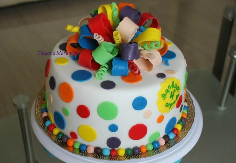 Детский торт своими руками для девочки из мастики