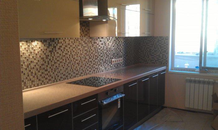 Ремонт на кухне в панельном доме фото своими руками
