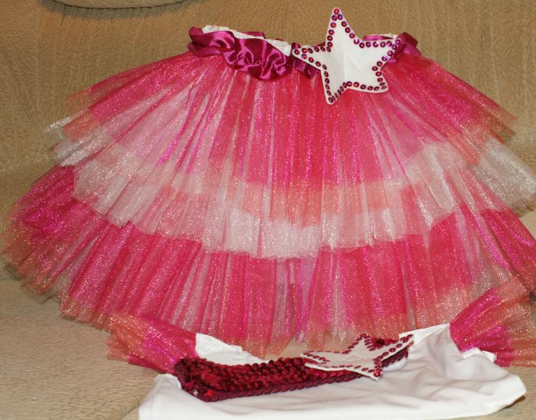 Сшить юбку из фатина на куклу 985