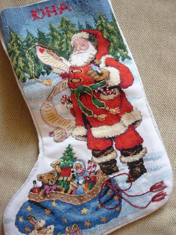 Новогодний носочек.
