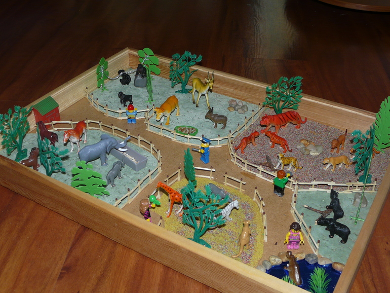 Как сделать зоопарк для ребенка