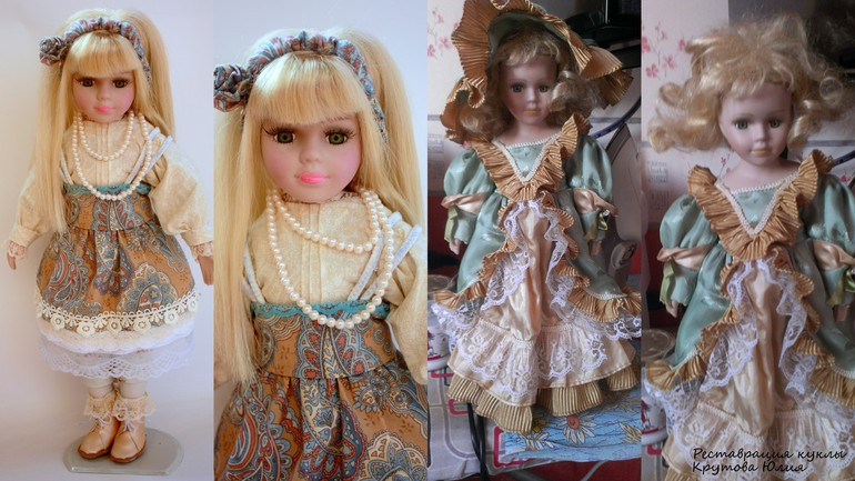 Реставрация антикварных кукол своими руками 15