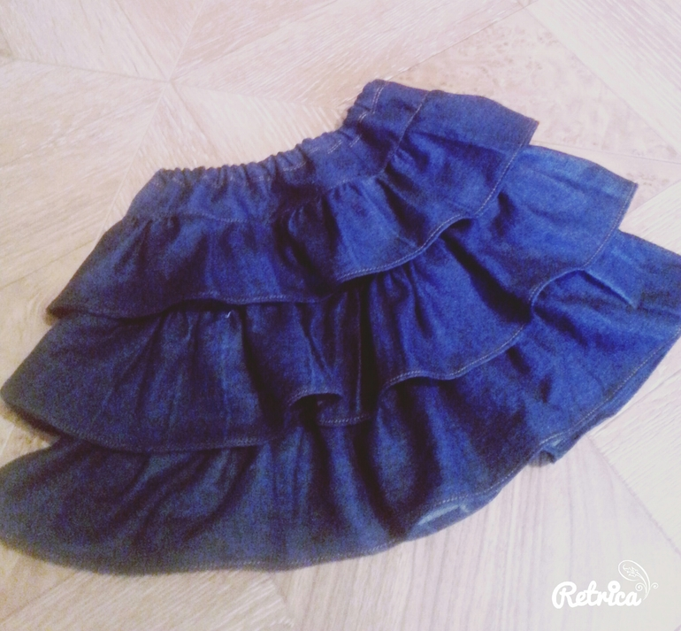 Выкройка юбки из старых джинс на девочку