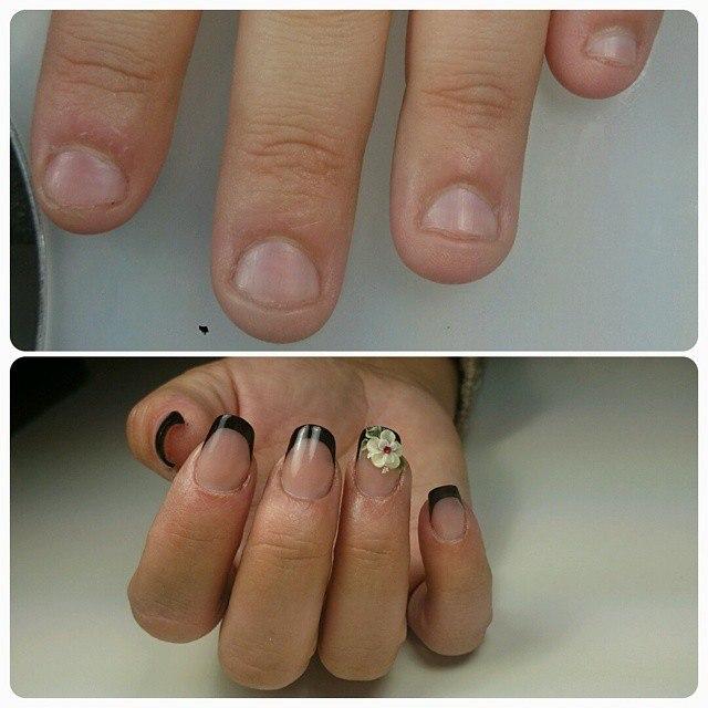 Как сделать наращивание на очень короткие ногти