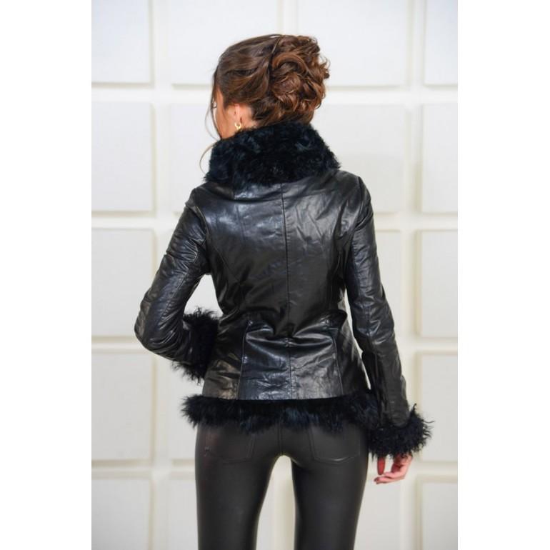 Купить Кожаную Куртку С Мехом В Омске